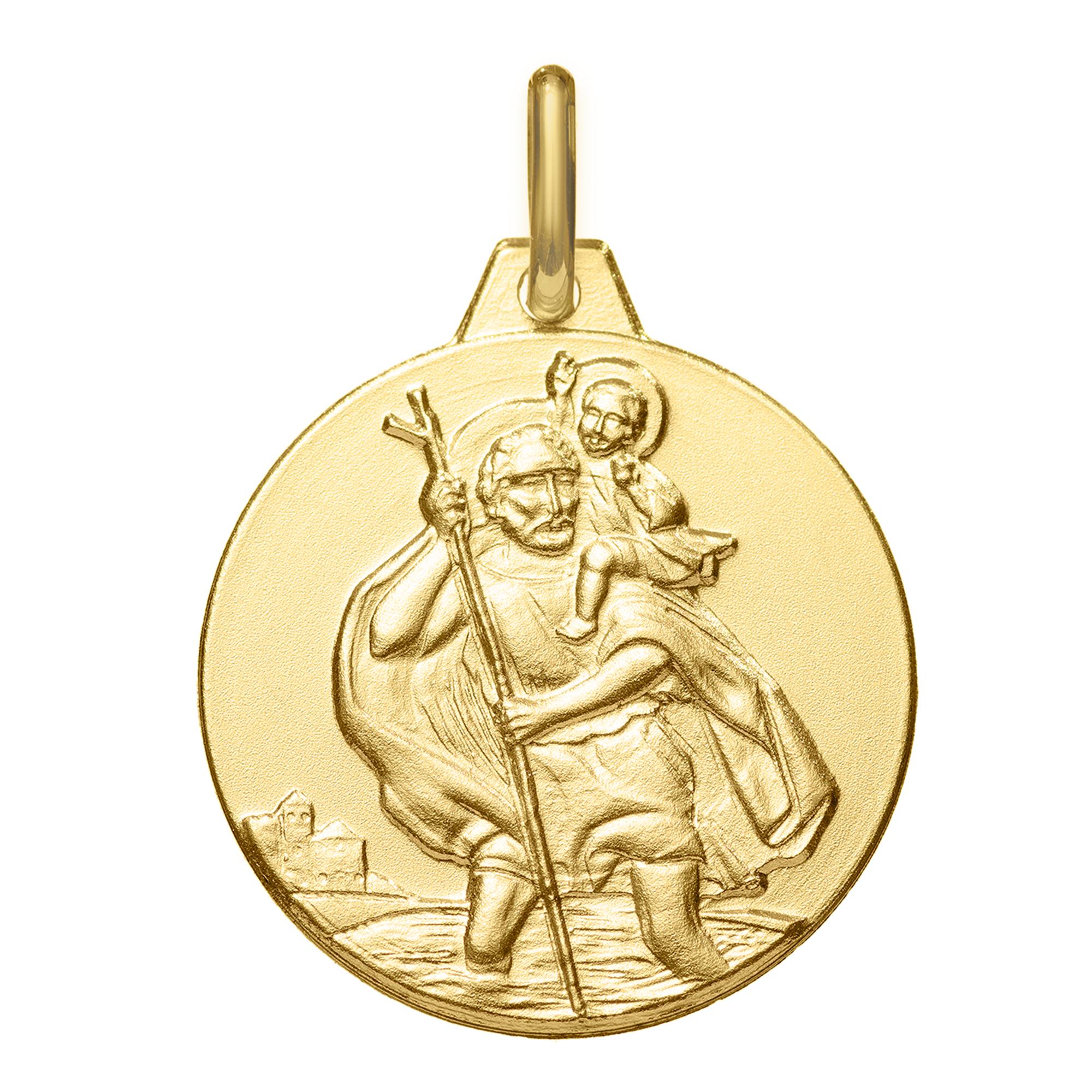 Maison de la Médaille Médaille Saint Christophe - Or jaune 18ct