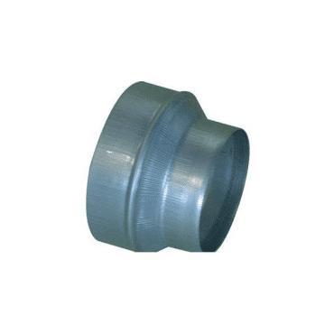 ALDES Réduction conique concentrique galva diamètre femelle 125mm et diamètre mâle 80mm aldes 11093502