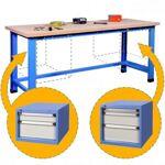 rolleco  Rolleco Etabli d'atelier avec 2 blocs tiroirs Etablis d'atelier... par LeGuide.com Publicité