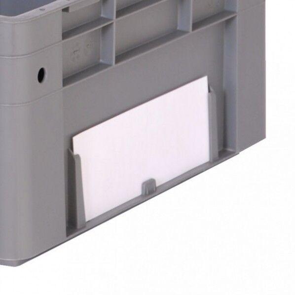 Rolléco Étiquette pour bac ouverture frontale Pour Bac hauteur mini 210 mm