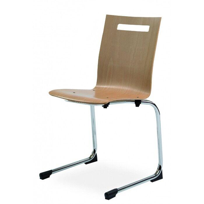 Rolléco Chaise luge design à coque bois Chromé
