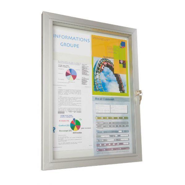 Rolléco Vitrine d'extérieur classique vitre plexiglas 18 x A4