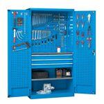 setam  SETAM Armoire d'atelier avec panneaux perforés et tiroirs bleu... par LeGuide.com Publicité