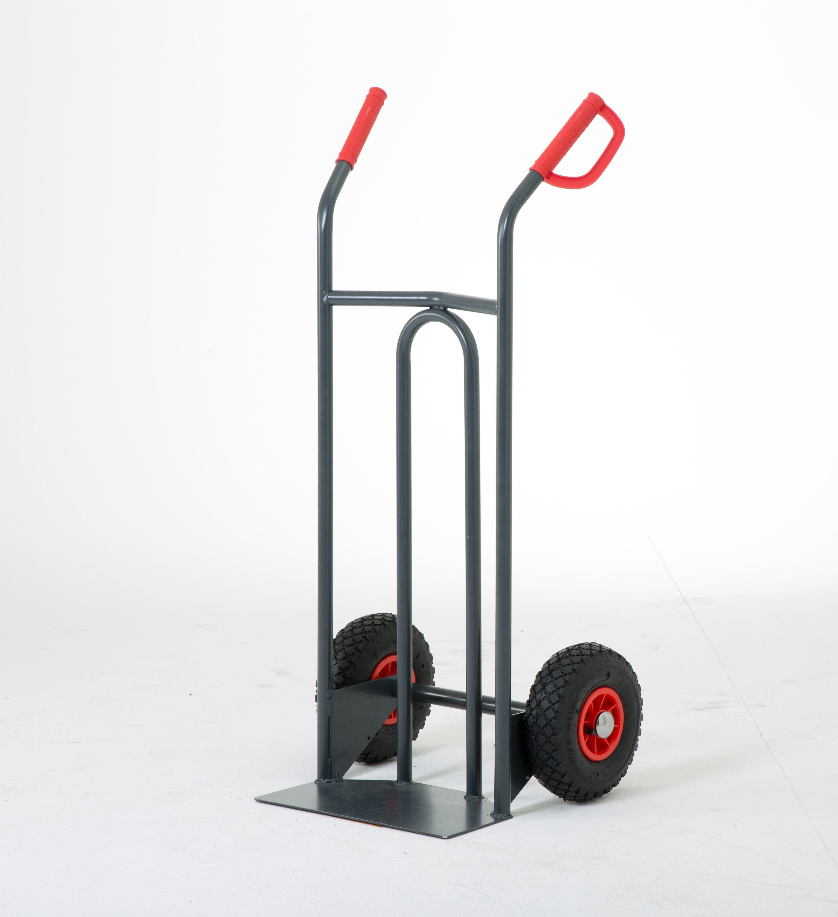 SETAM Diable manutention charge 250 kg pelle fixe, roues pneumatiques
