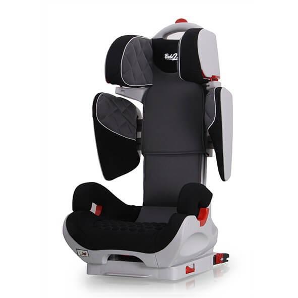 bebe2luxe SiŠge Auto Safe Robot Gris/Noir Iso-Fix inclinable de 3 ans … 10 ans - (SPS)