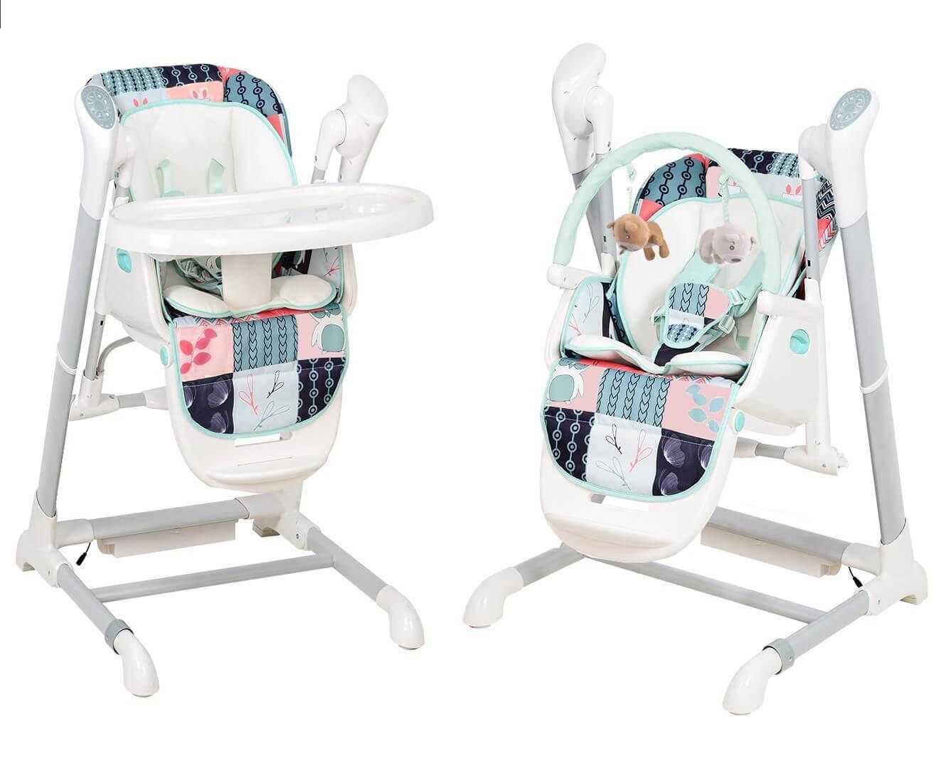 bebe2luxe Chaise Haute, transat, Balancelle. Evolutif : SPLITY 3 en 1