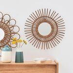 Casatera Miroir rond en bambou Holi Moka On craque pour ce miroir en... par LeGuide.com Publicité