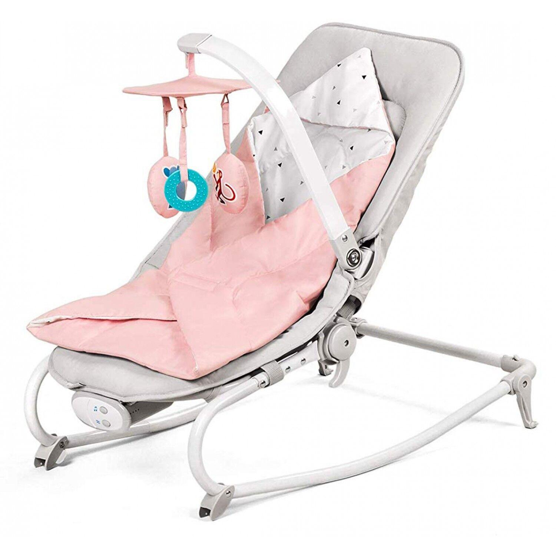 Kinderkraft Chaise berçante rose Felio de Kinderkraft