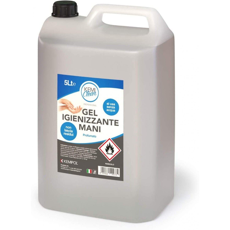 Millebaci Gel désinfectant pour les mains 62% d'alcool kémicléen 5 litres