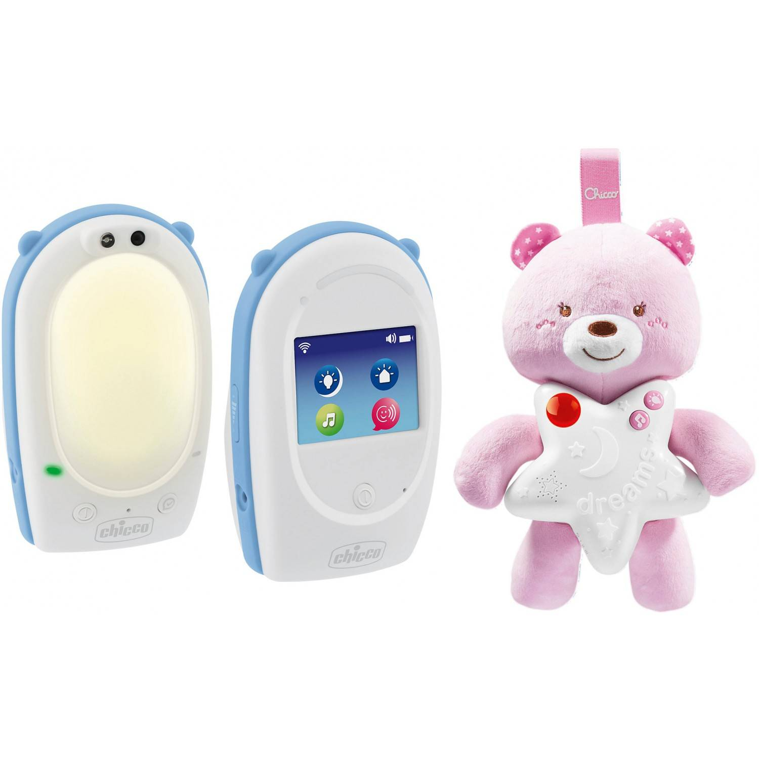 Chicco Baby Monitor e Peluche Luminoso Chicco Goodnight Friends Rosa