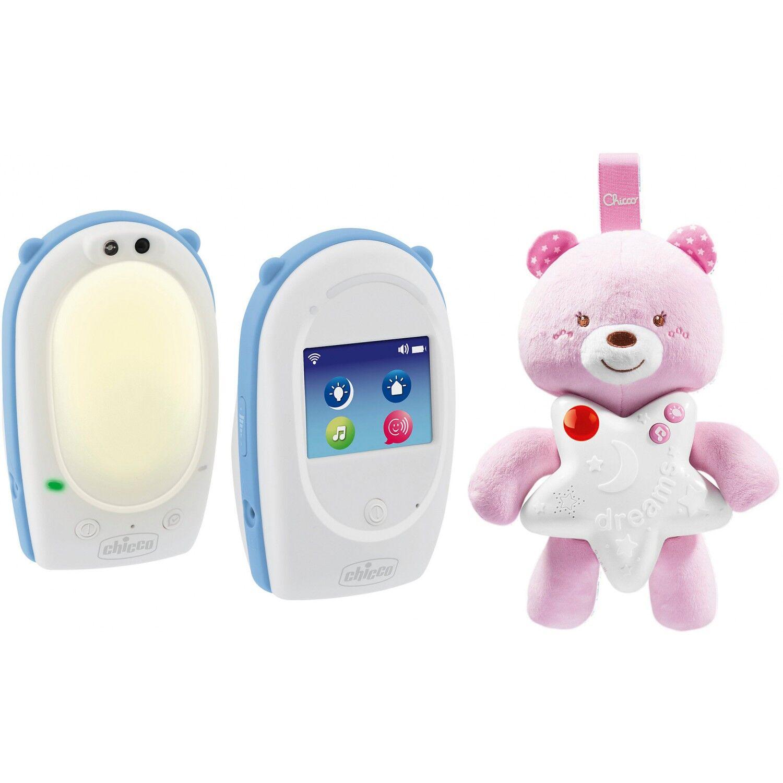 Chicco Baby Monitor e Peluche Luminoso Chicco Goodnight Friends Rosa