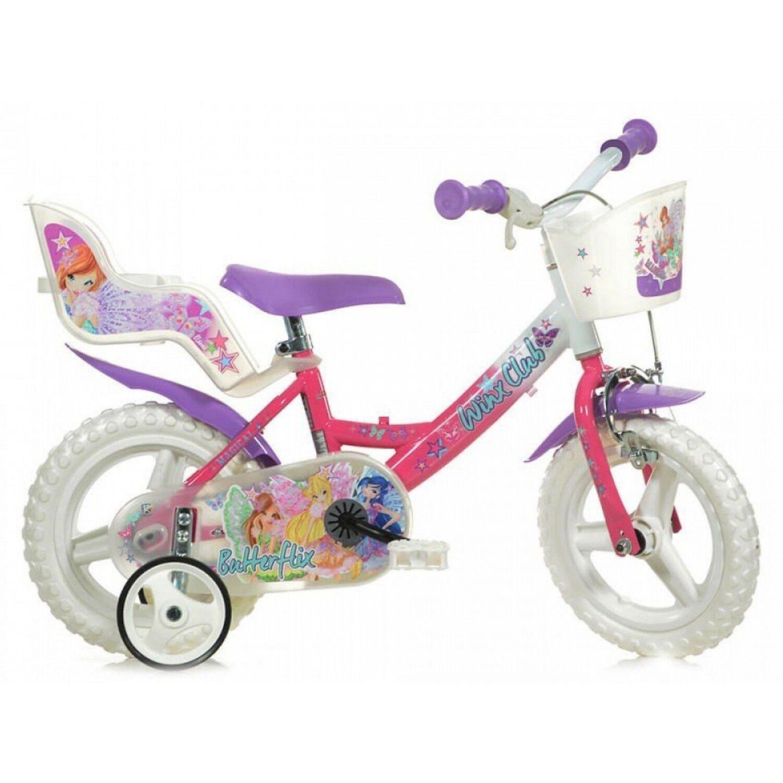 Dino Bikes Winx Club 12 pouces 20 cm Fille Frein à serrer Violet/Rose