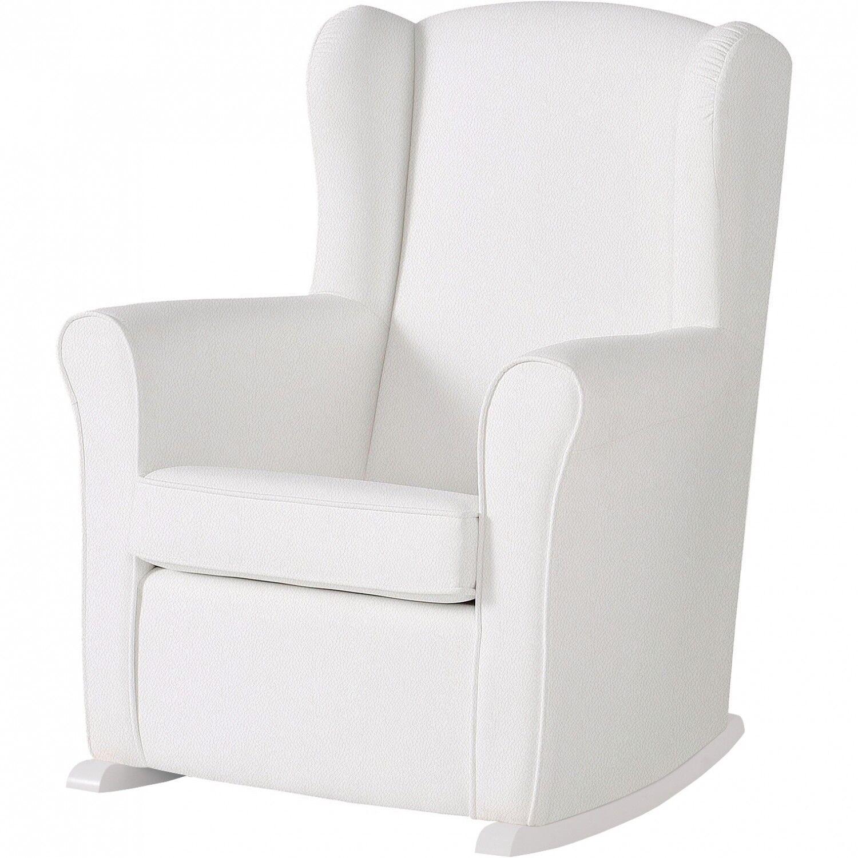 Micuna Chaise berçante Micuna Nanny en éco-cuir blanc