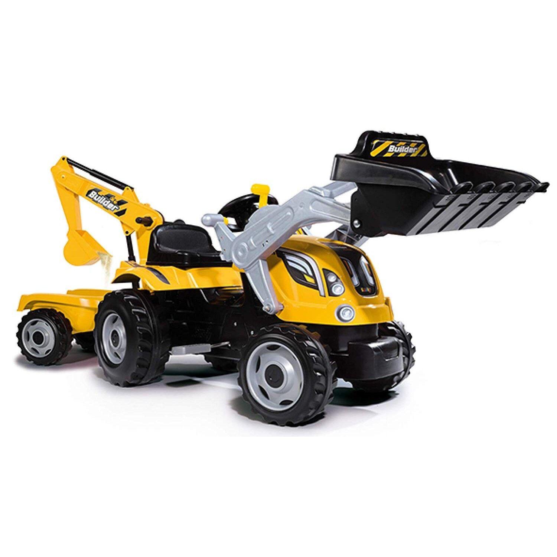 Smoby Toys , Tracteur Builder Max + Pelle Pelleteuse Et Remorque Siège Ajustable