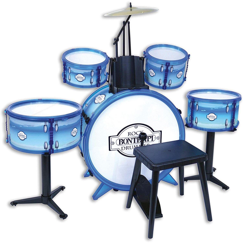 Bontempi Jeux d'imitation Bontempi Batterie rock drummer 5 fûts Bleu