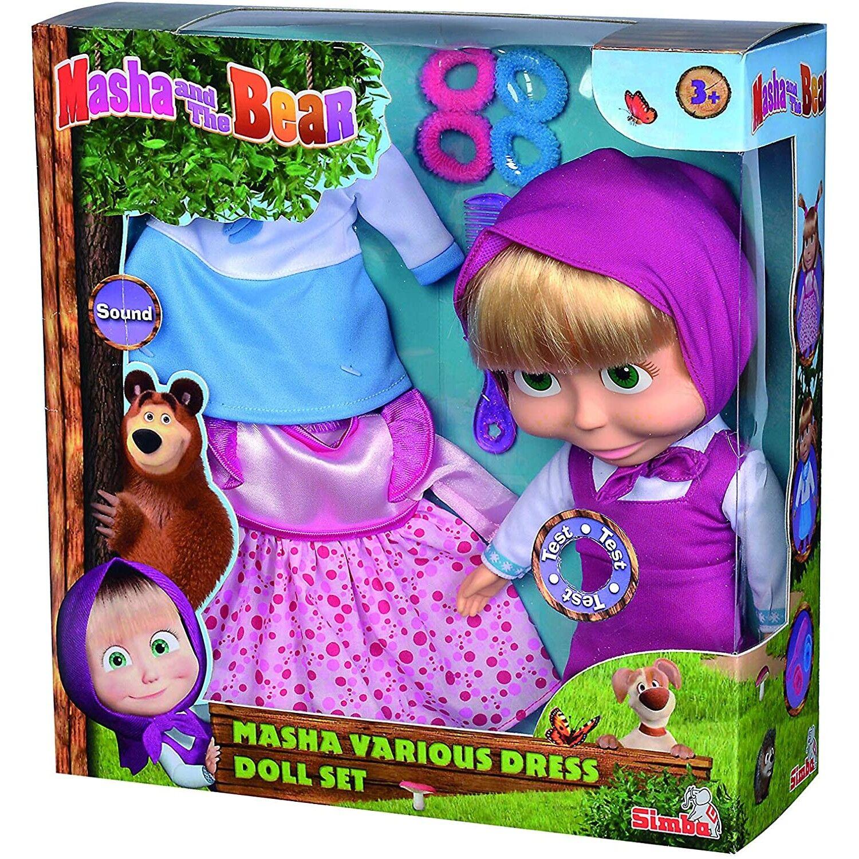 Simba Ensemble de poupée Simba Masha et l'ours avec vêtements