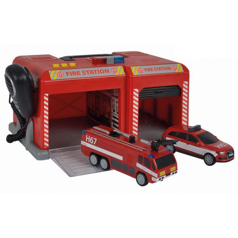 Simba Station Dickie par Simba Sos avec 2 véhicules de pompiers