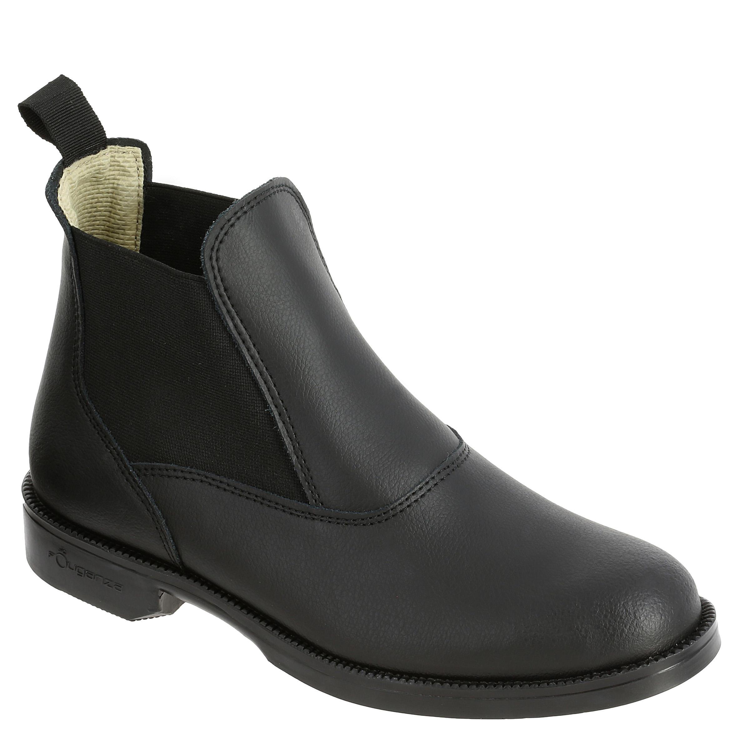 FOUGANZA Boots équitation adulte CLASSIC cuir noir - FOUGANZA - 35