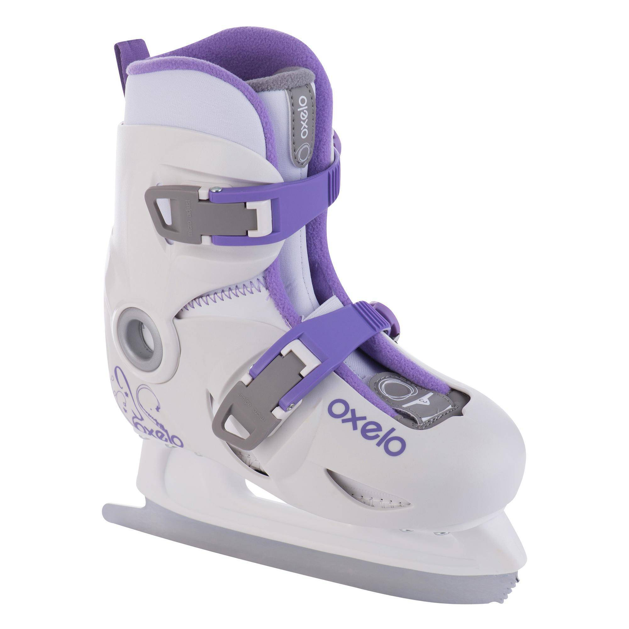 Oxelo Patins à glace enfant fille PLAY 3 BLANC - Oxelo