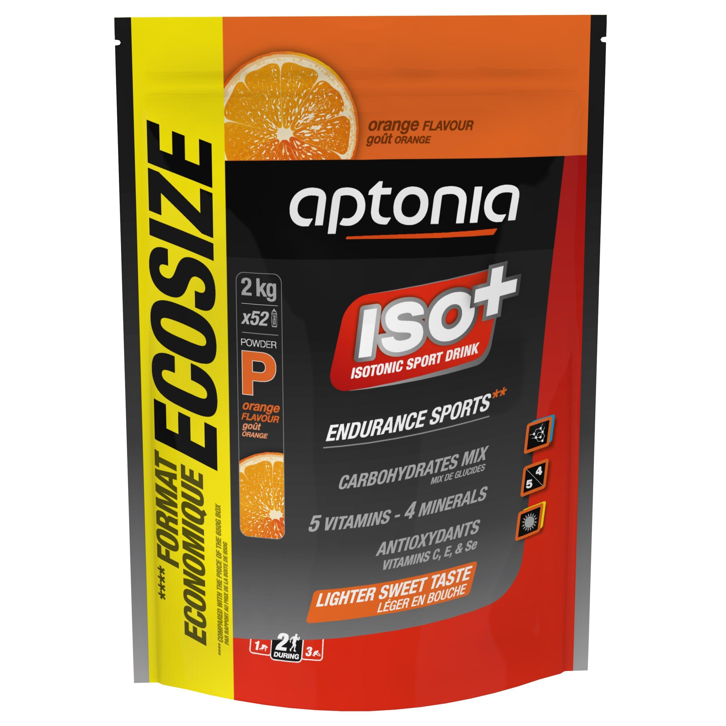 Aptonia Boisson isotonique poudre ISO+ orange 2kg - Aptonia