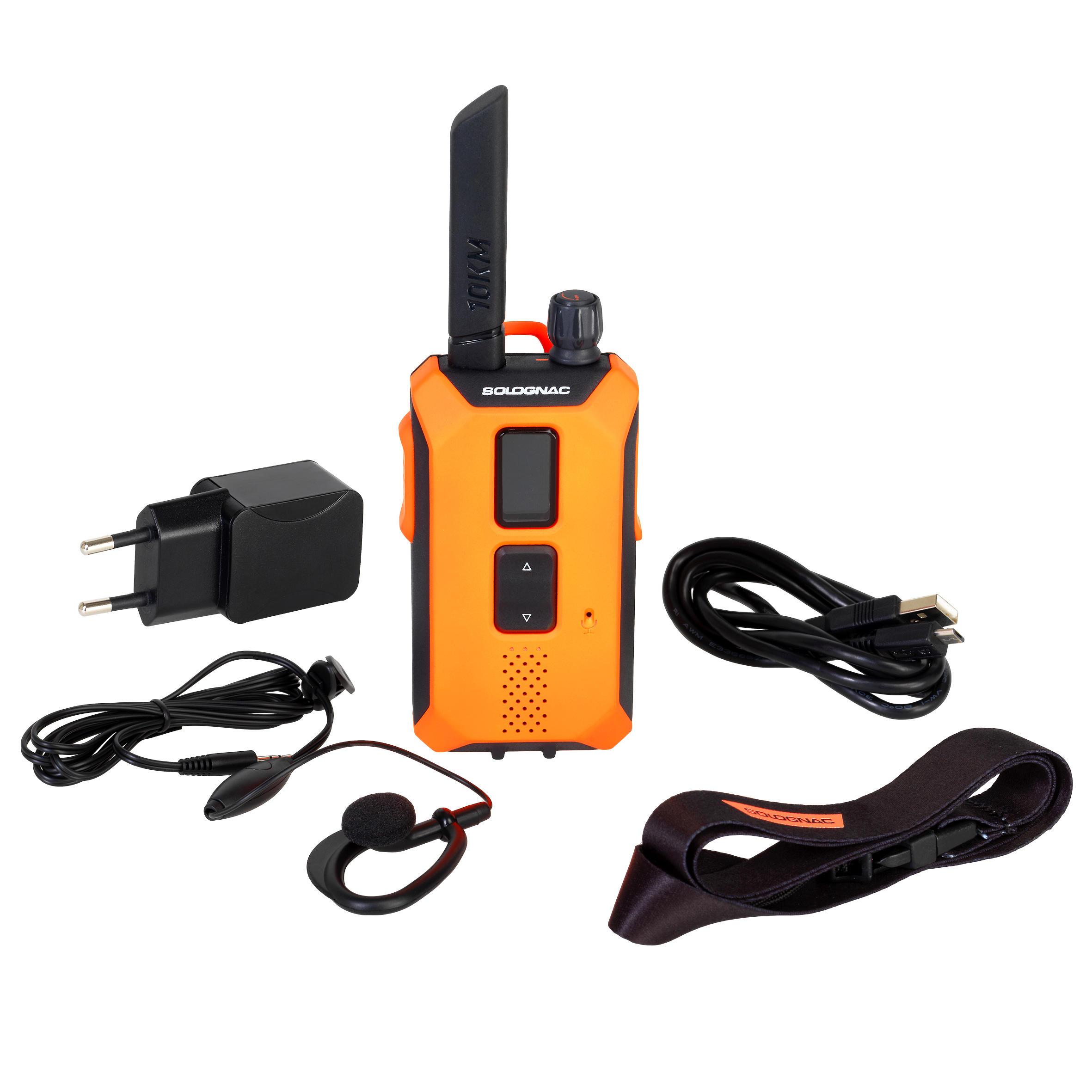 SOLOGNAC Talkie walkie de chasse étanche à la pluie portée 10 KM BGB 500. - SOLOGNAC - Taille unique