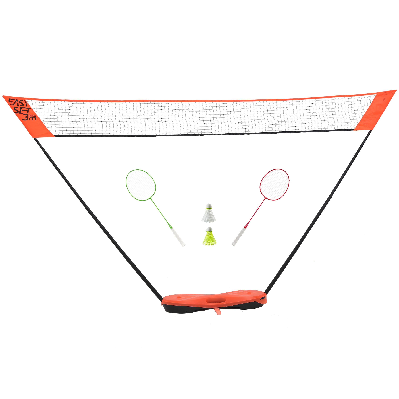 Perfly Filet de Badminton EASY SET 3M - ORANGE - Perfly