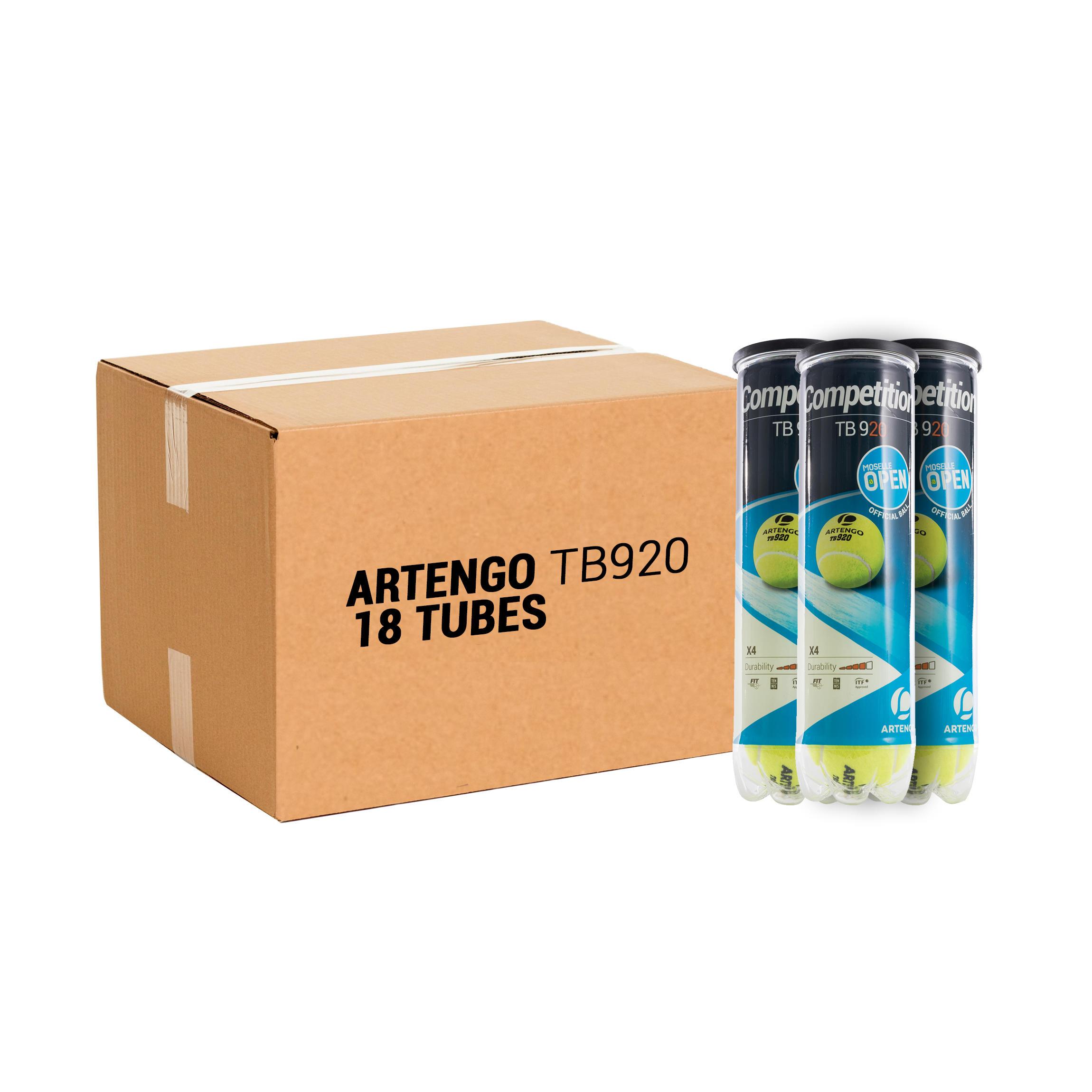 ARTENGO BALLE DE TENNIS TB920 *4 PACK *18 JAUNE - ARTENGO - Taille unique