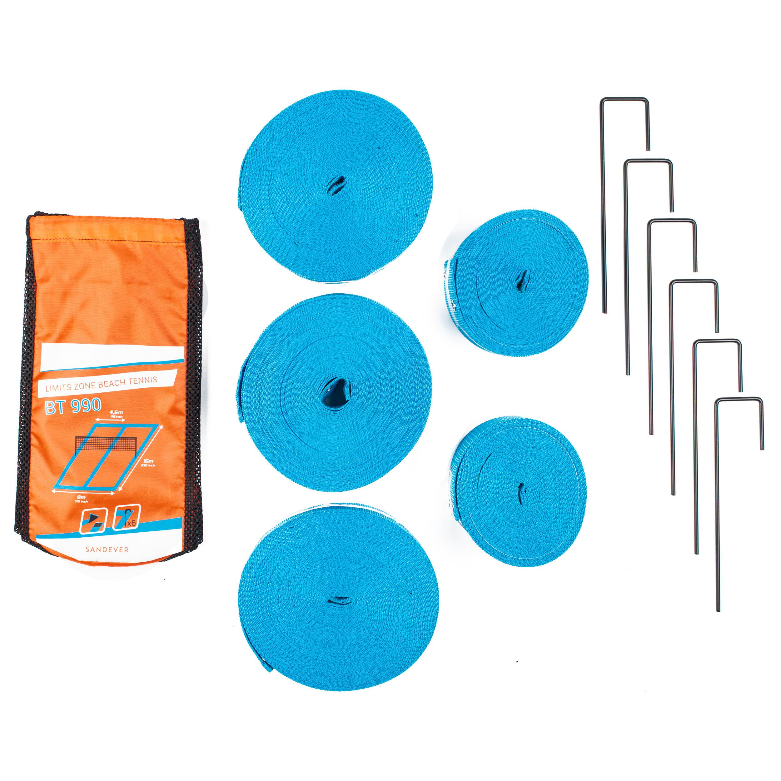 SANDEVER Délimitations de terrain de beach Tennis BT 900 bleu - SANDEVER - Taille unique