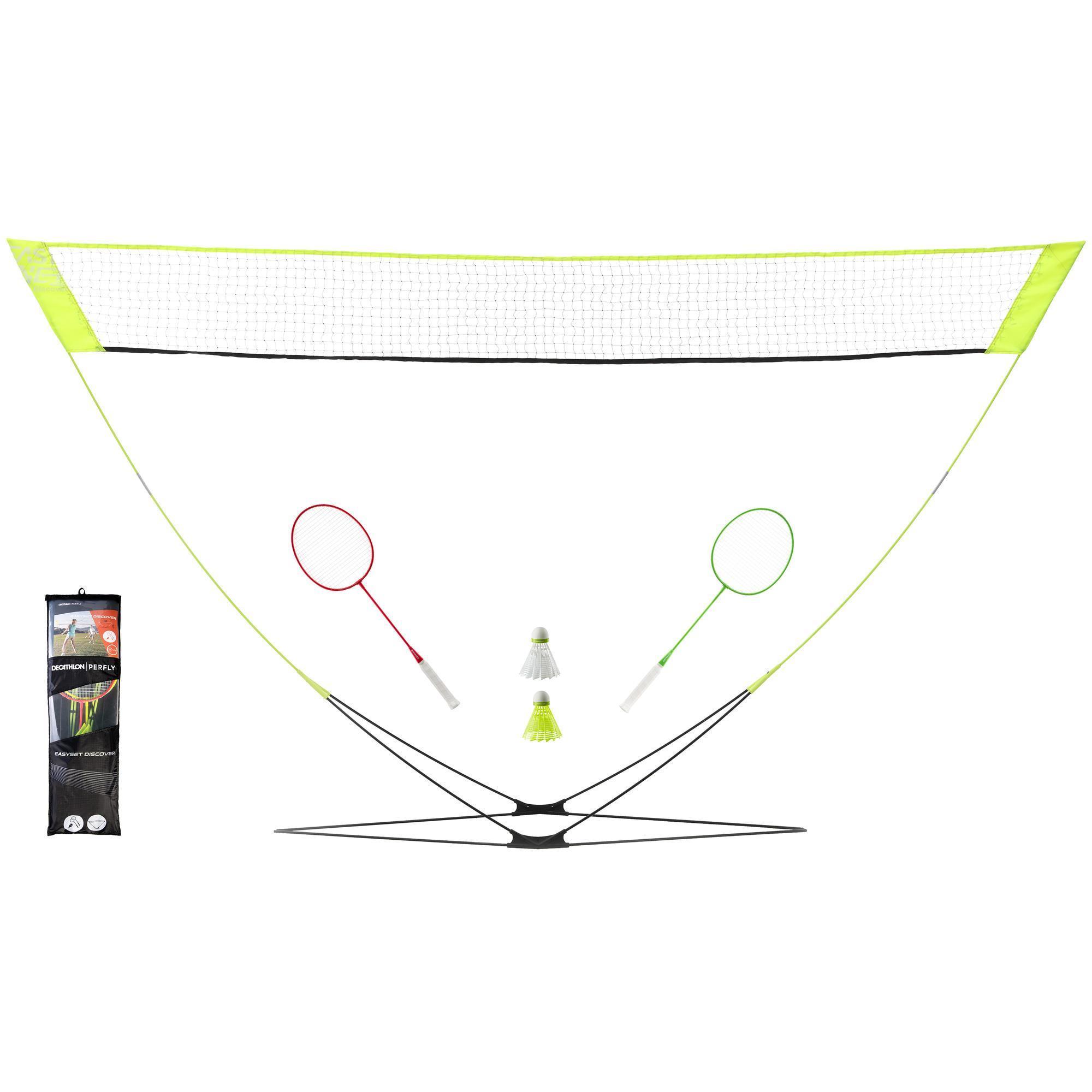 Perfly Filet de Badminton Easy Set Discover - Jaune - Perfly