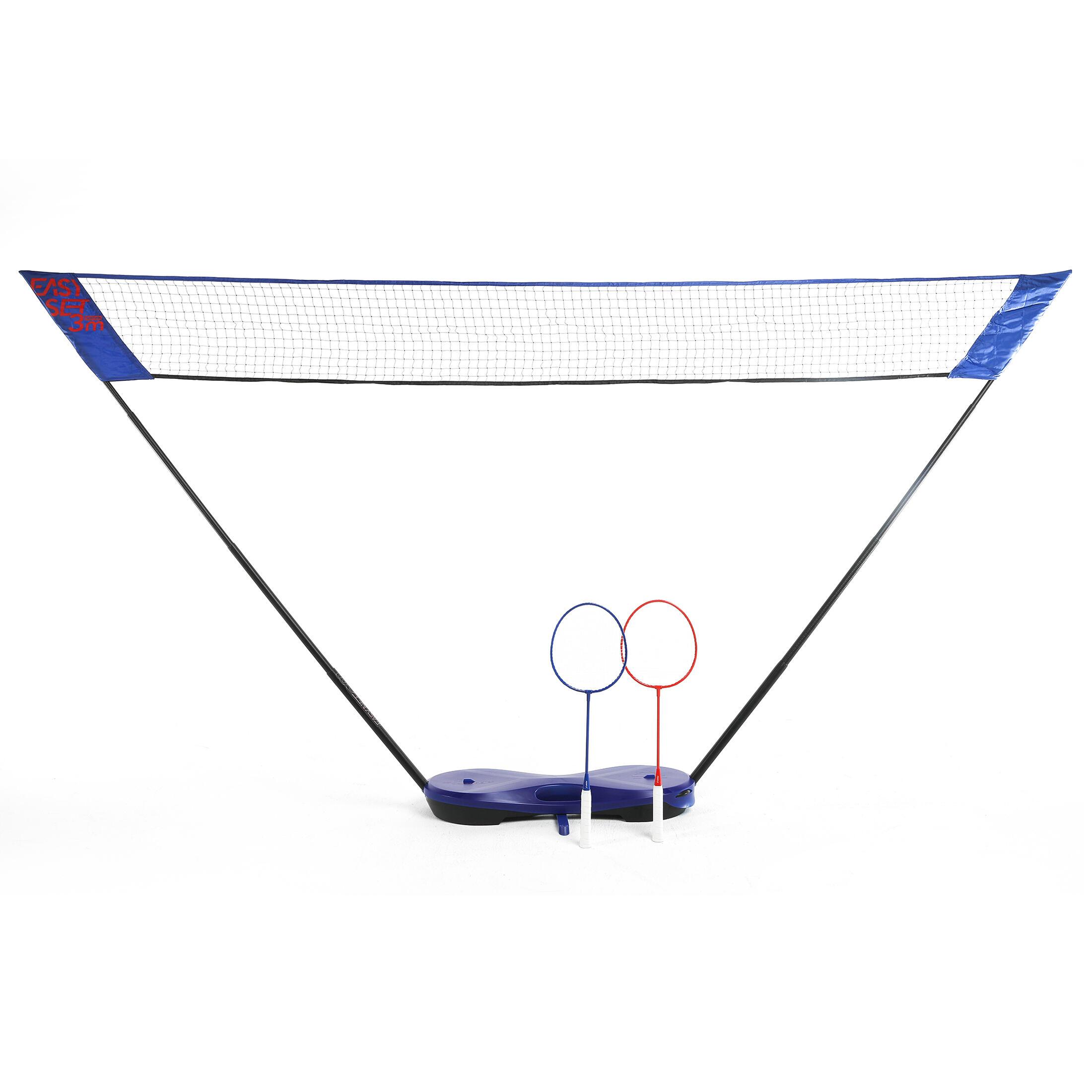 PERFLY Filet de Badminton Easy Set 3 m - Bleu - PERFLY - Taille unique