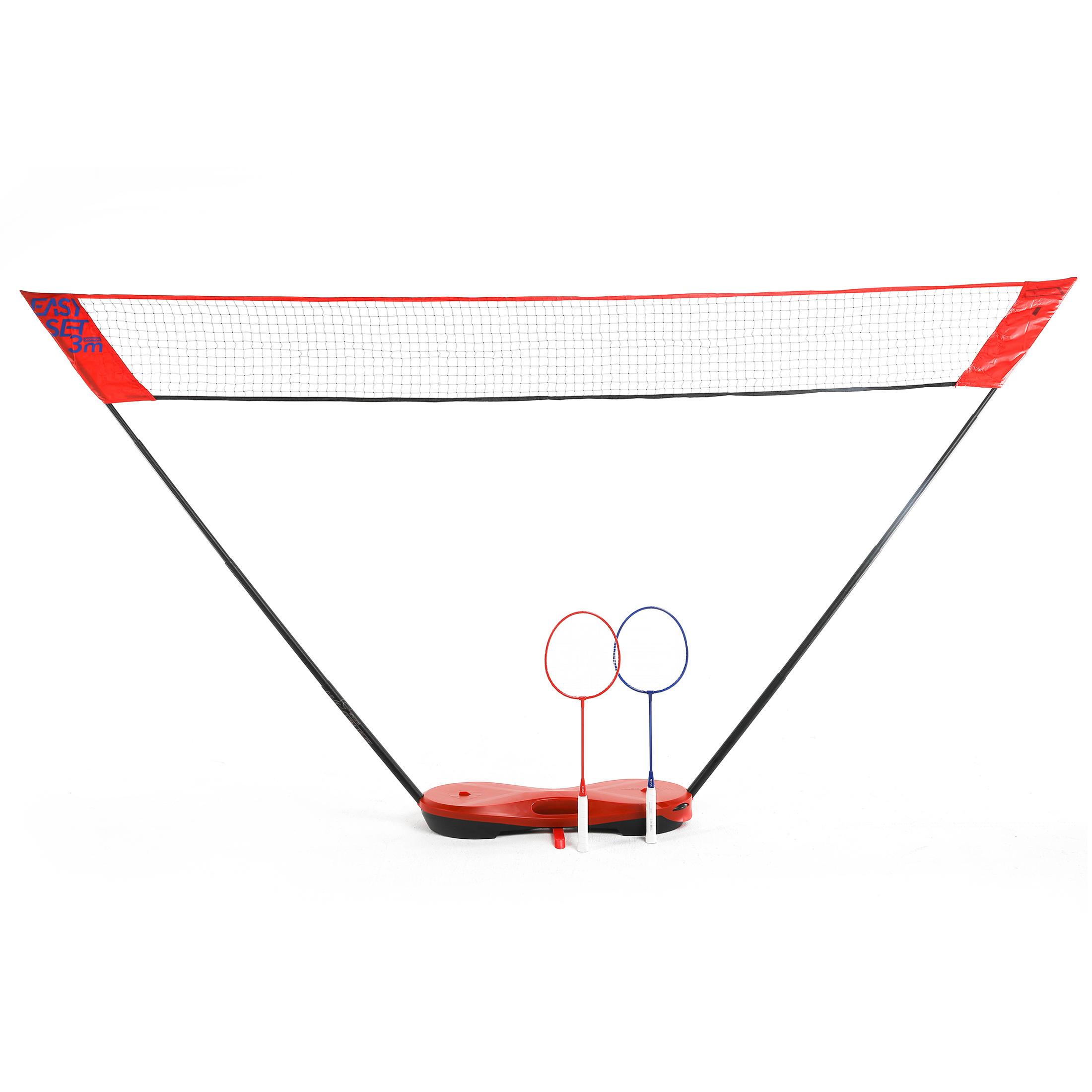 Perfly Filet de Badminton Easy Set 3 m - Rouge - Perfly