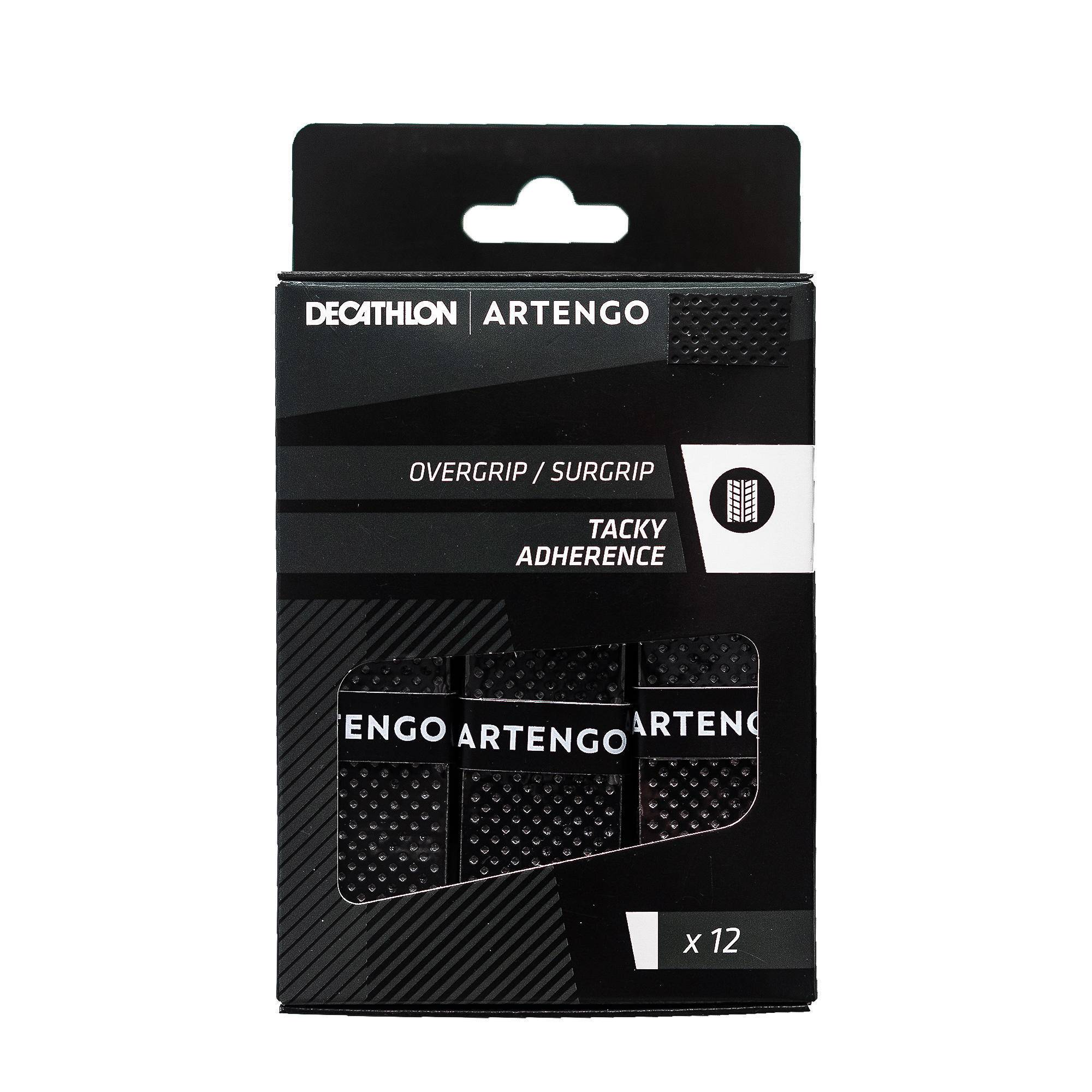 Artengo SURGRIP DE TENNIS TACKY X12 noir - Artengo