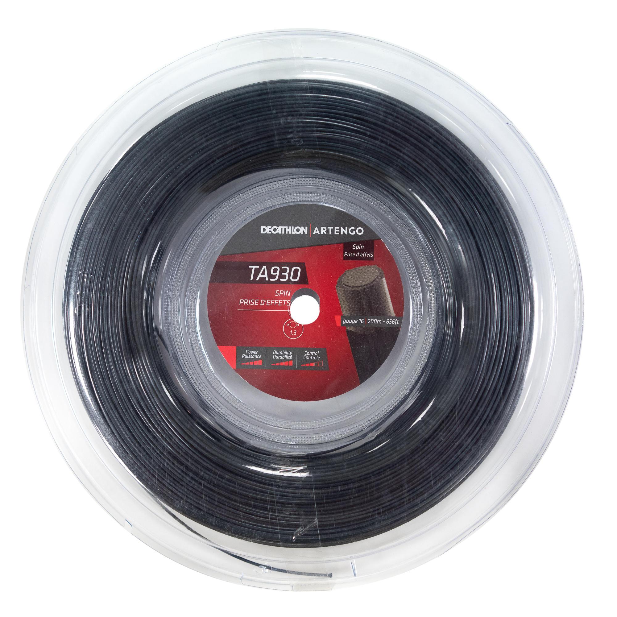 Artengo CORDAGE DE TENNIS MONOFILAMENT NOIR PENTAGONAL TA 930 SPIN EN JAUGE 1.25 mm - Artengo