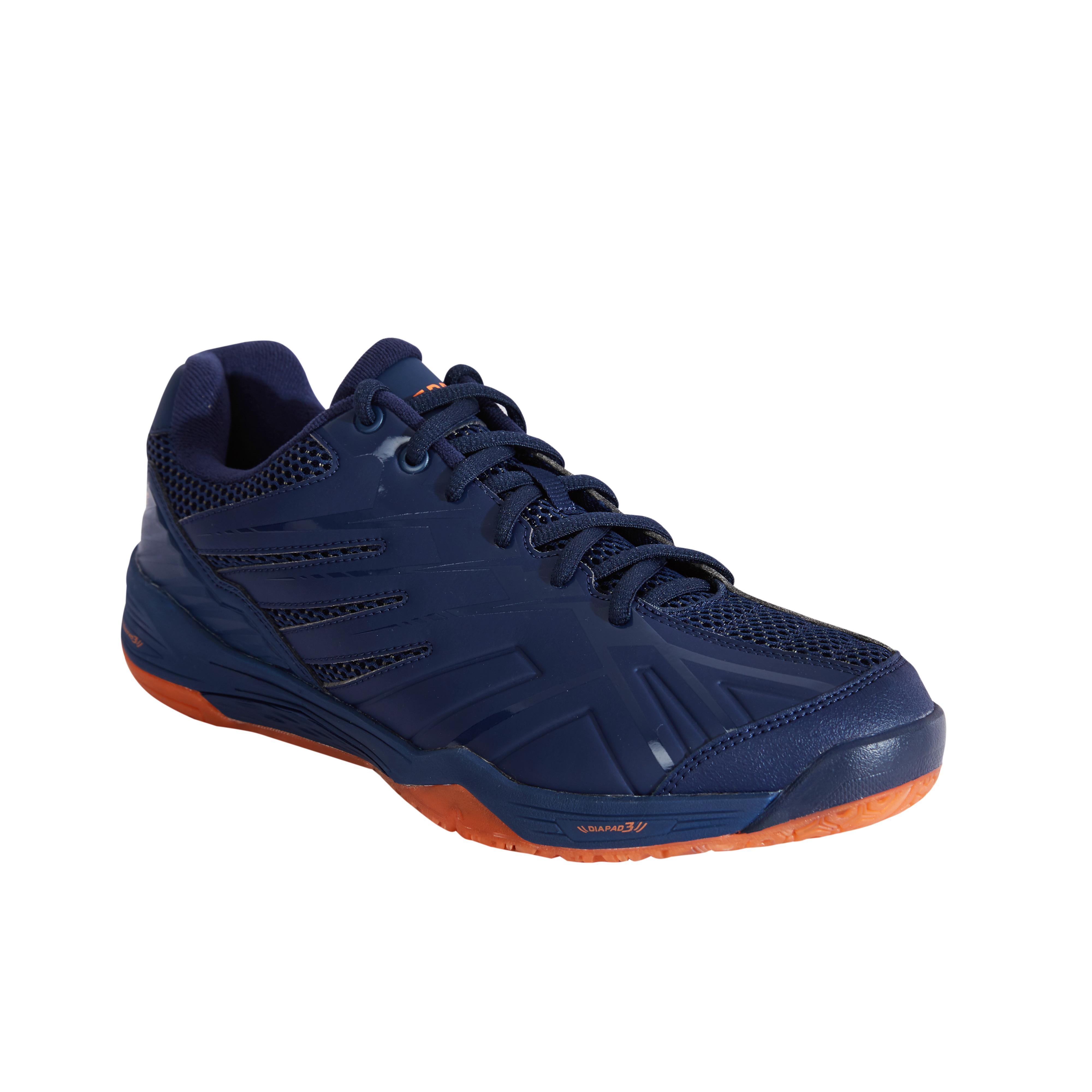 Perfly Chaussures De Badminton BS590 Max Comfort - Marine/Orange - Perfly