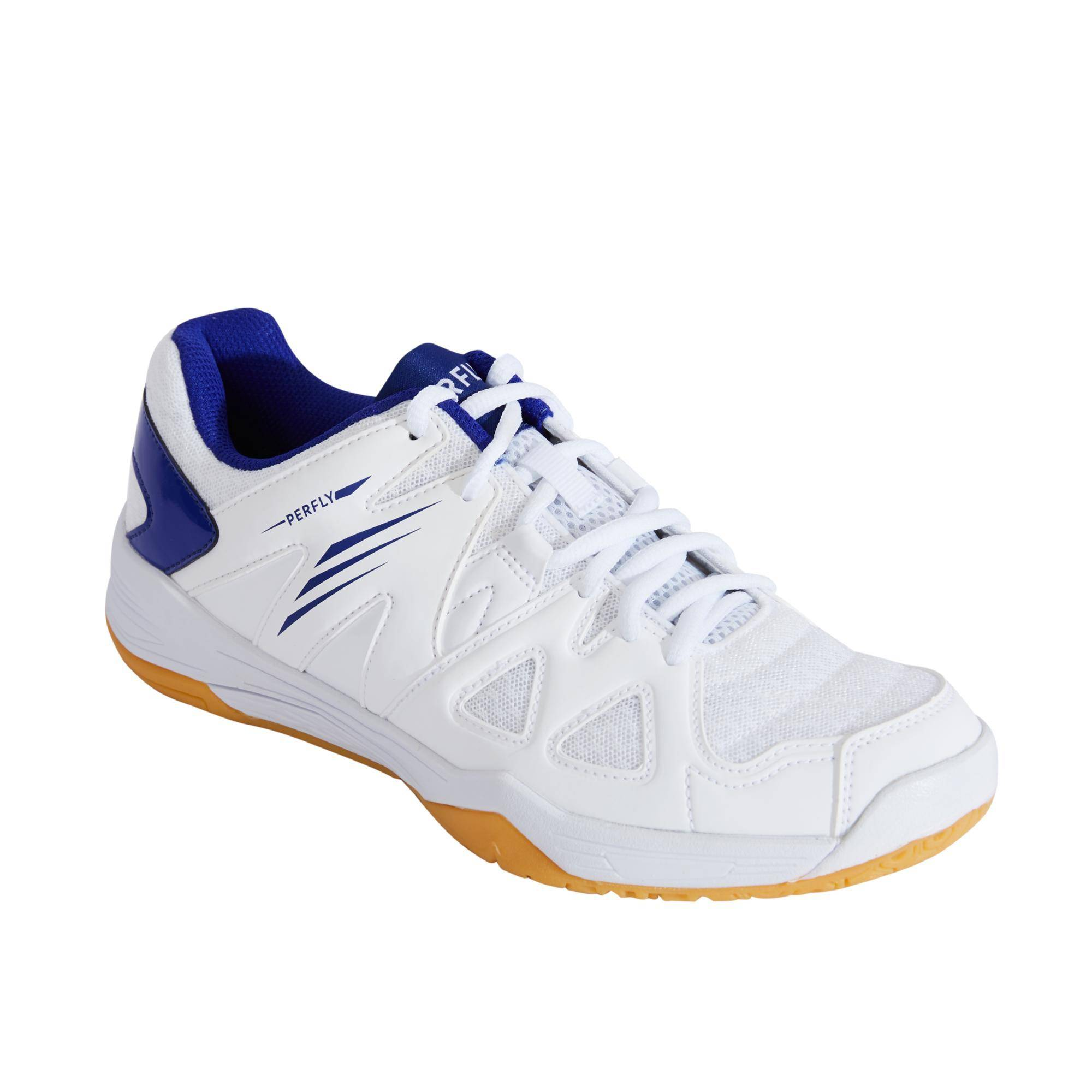 PERFLY Chaussures De Badminton Femme BS530 - Blanc/Bleu - PERFLY - 38
