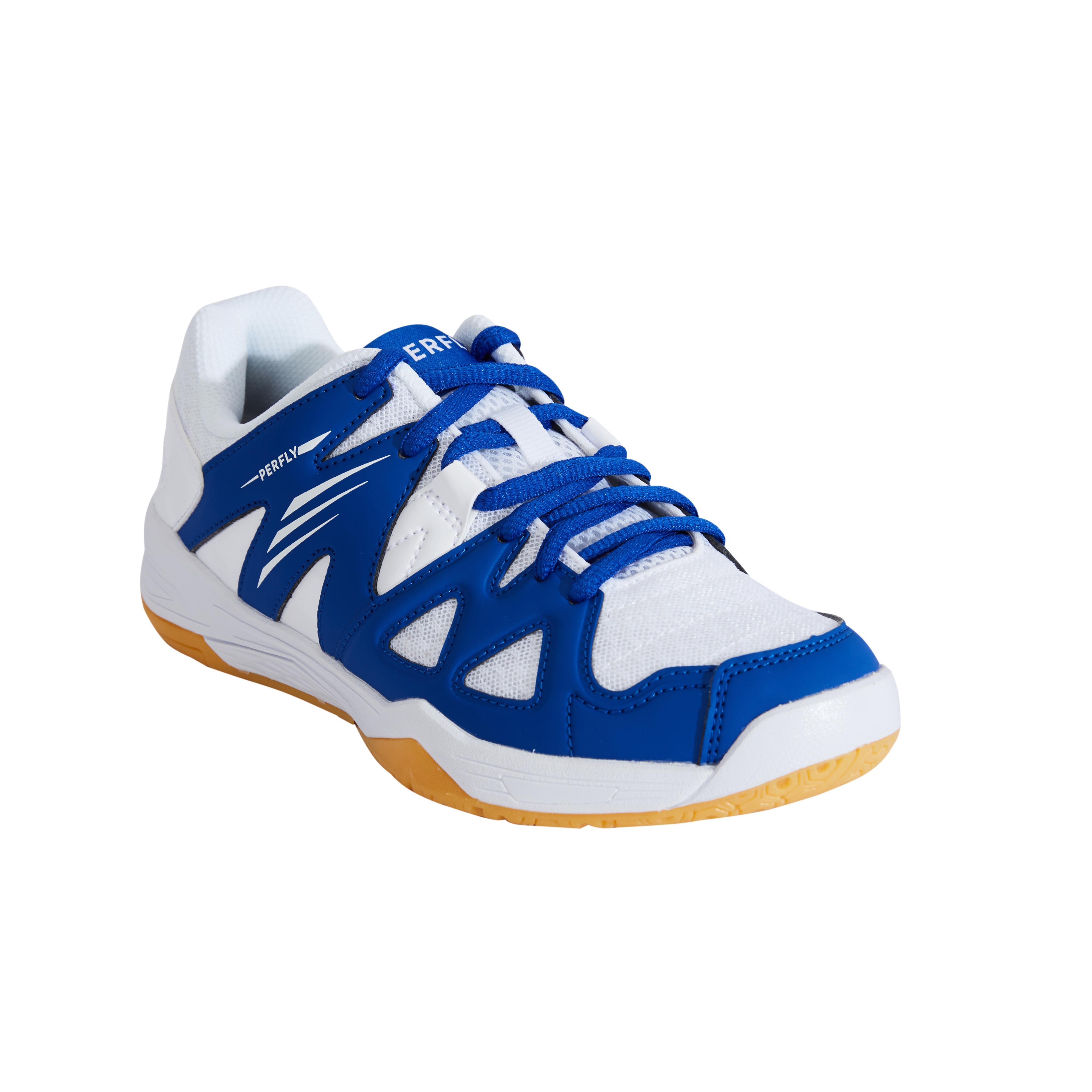 Perfly Chaussures De Badminton BS 500 Junior - Blanc/Bleu - Perfly