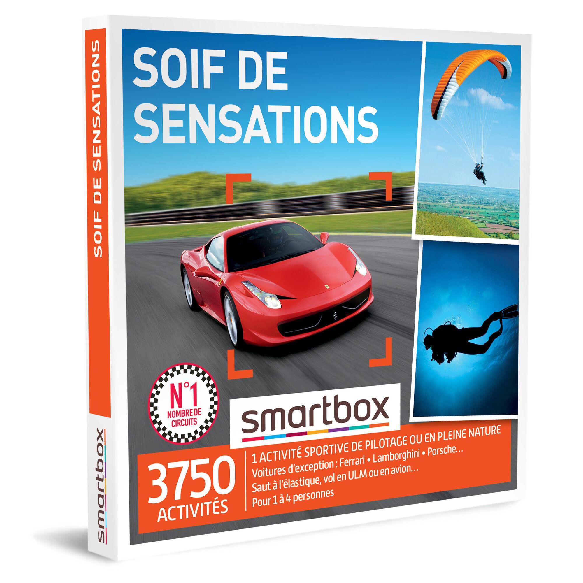 Smartbox Soif de sensations Coffret cadeau Smartbox