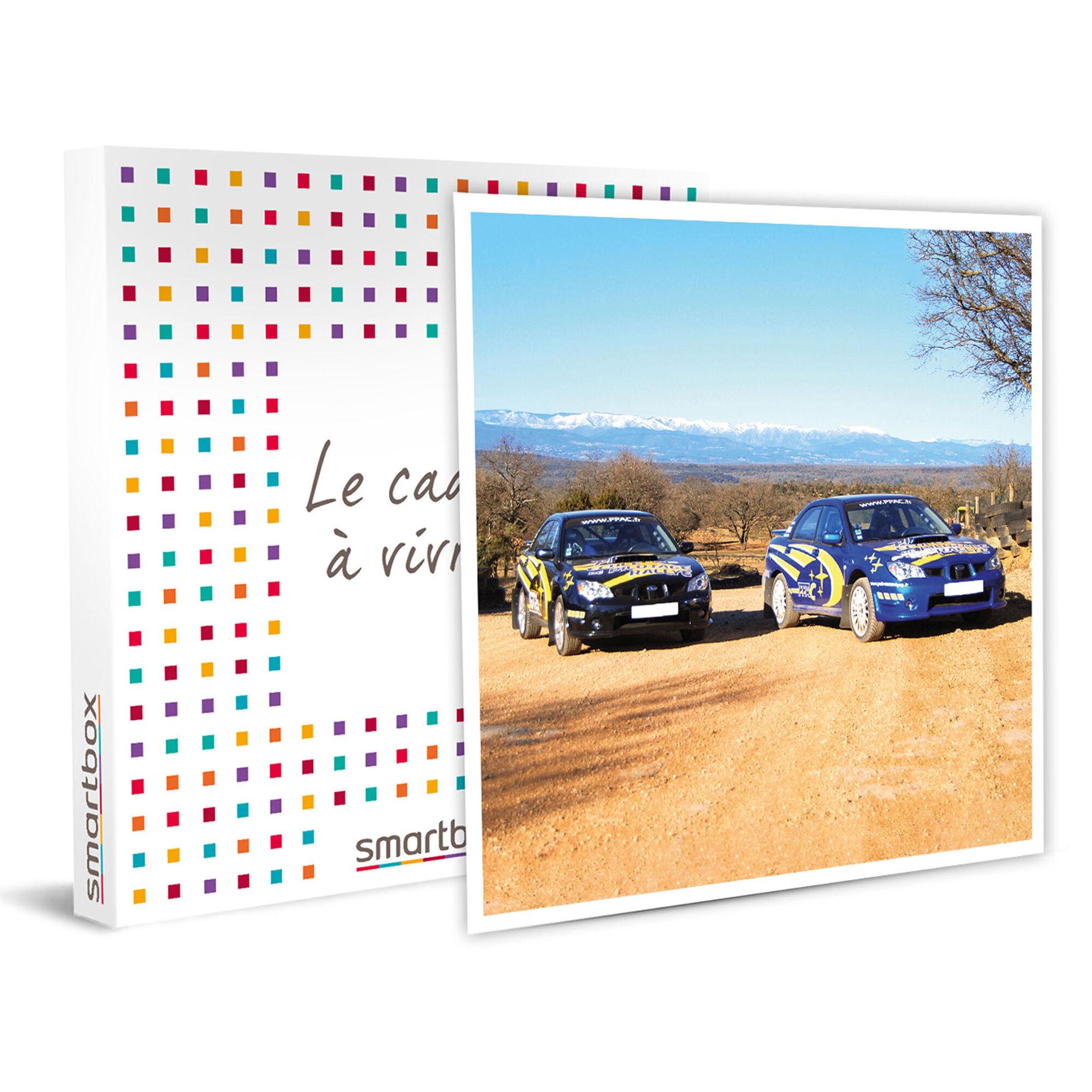 Smartbox Stage pilotage rallye sur circuit terre : 6 tours en Subaru Impreza WRX Coffret cadeau Smartbox