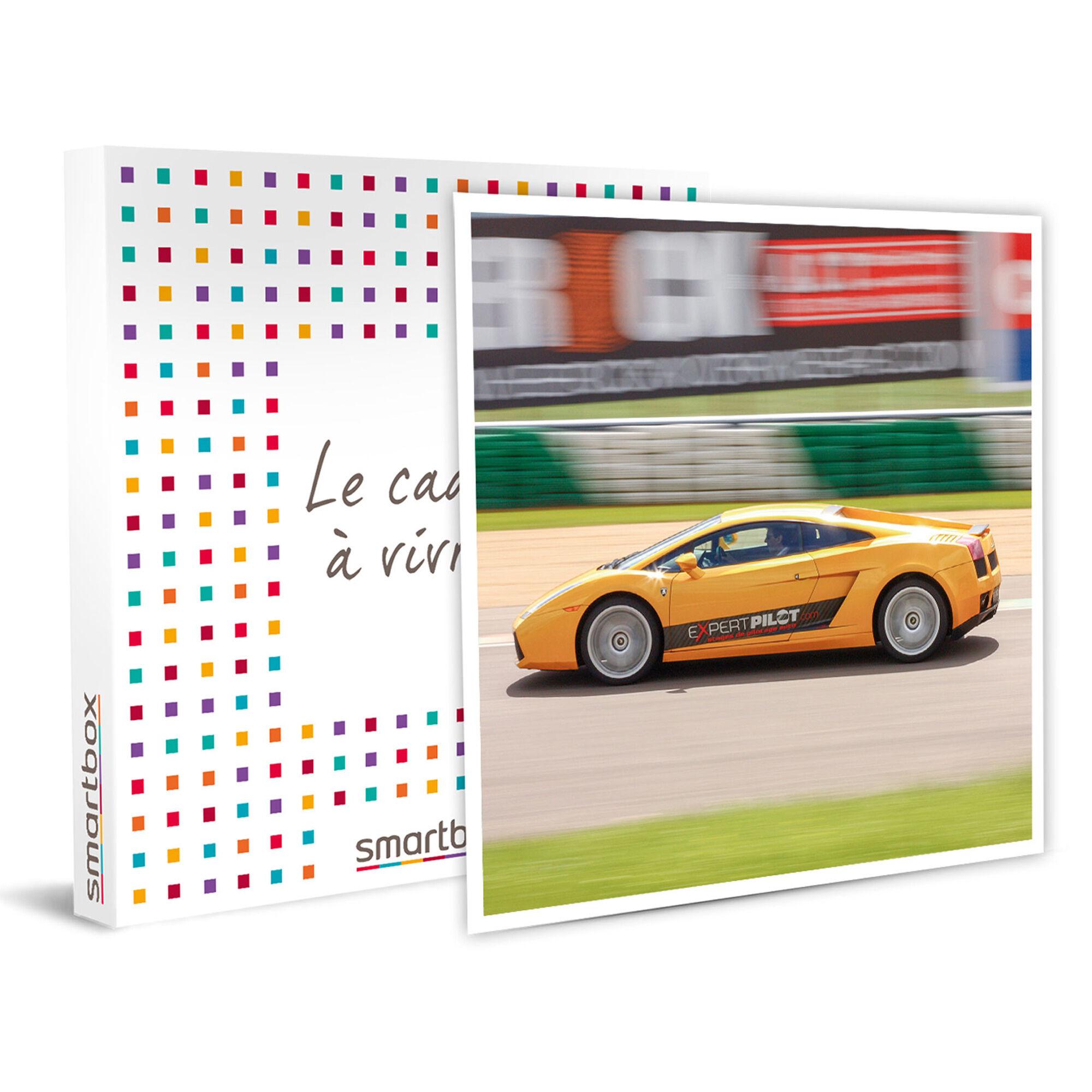 Smartbox 4 tours au volant d'une Lamborghini Huracan sur le circuit Geoparc Coffret cadeau Smartbox