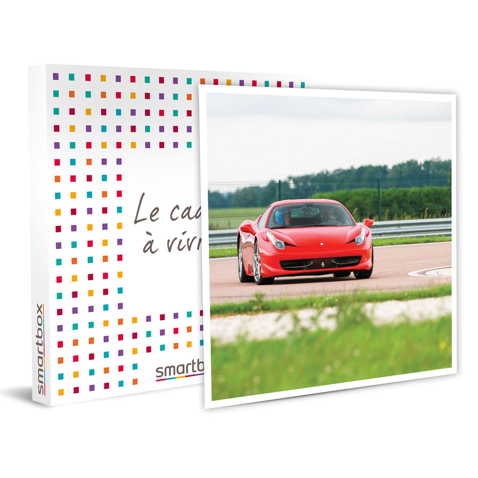 Smartbox Pilotage ou baptême en Ferrari 458 Italia sur circuit d'exception Coffret cadeau Smartbox