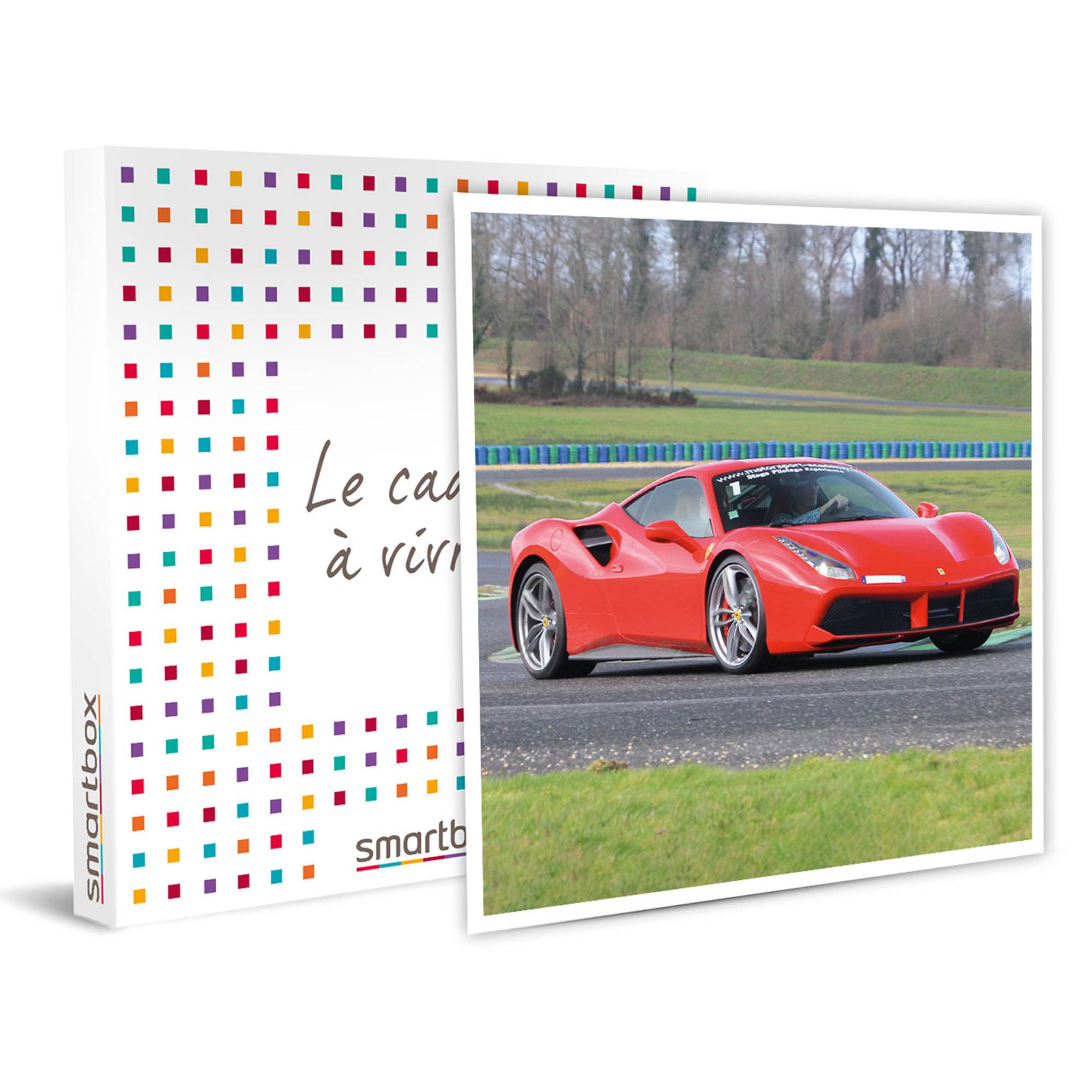 Smartbox Sensations sur circuit au volant ou en passager d'une Ferrari 488 GTB Coffret cadeau Smartbox