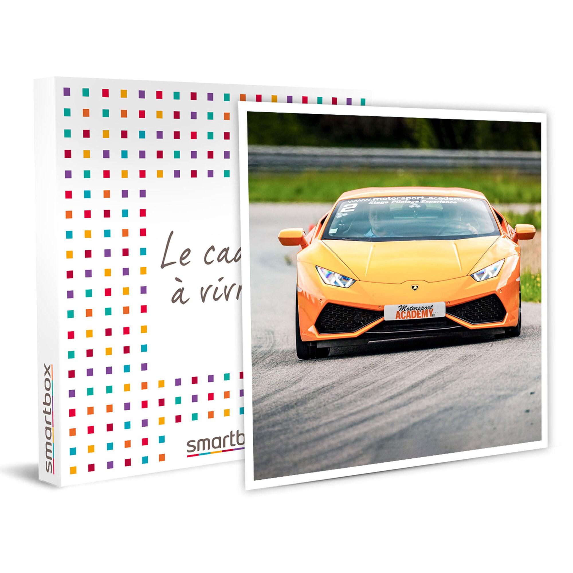 Smartbox Pilotage ou baptême à sensations sur circuit en Lamborghini Huracan Coffret cadeau Smartbox