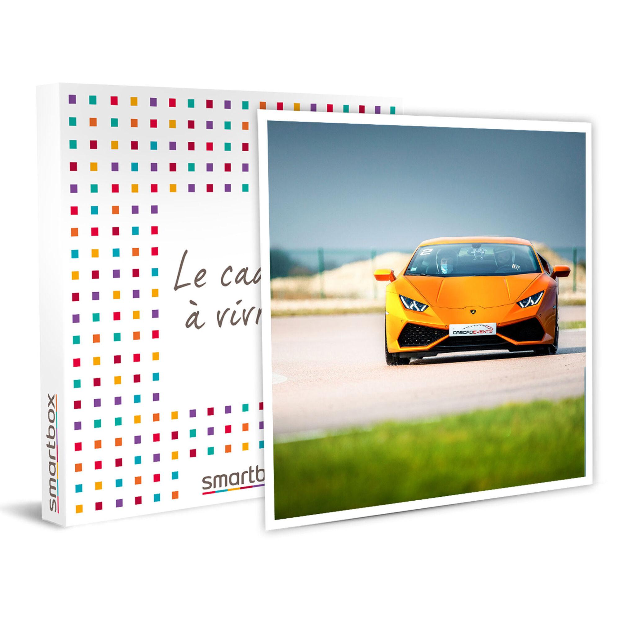 Smartbox Sensations sur circuit : 2 tours en Lamborghini Huracán Coffret cadeau Smartbox