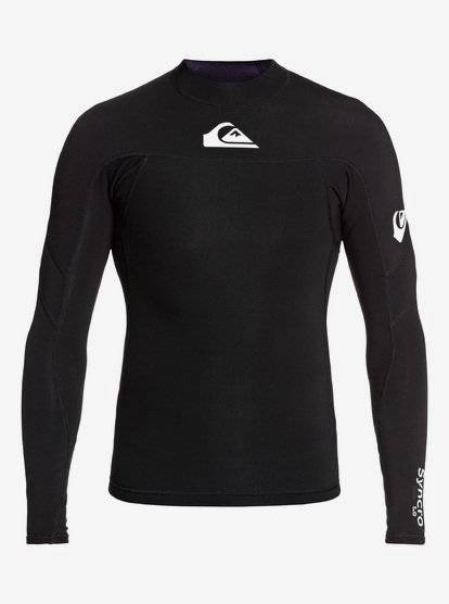 Quiksilver 1mm Syncro - Top de surf manches longues en néoprène pour Homme - Noir - Quiksilver