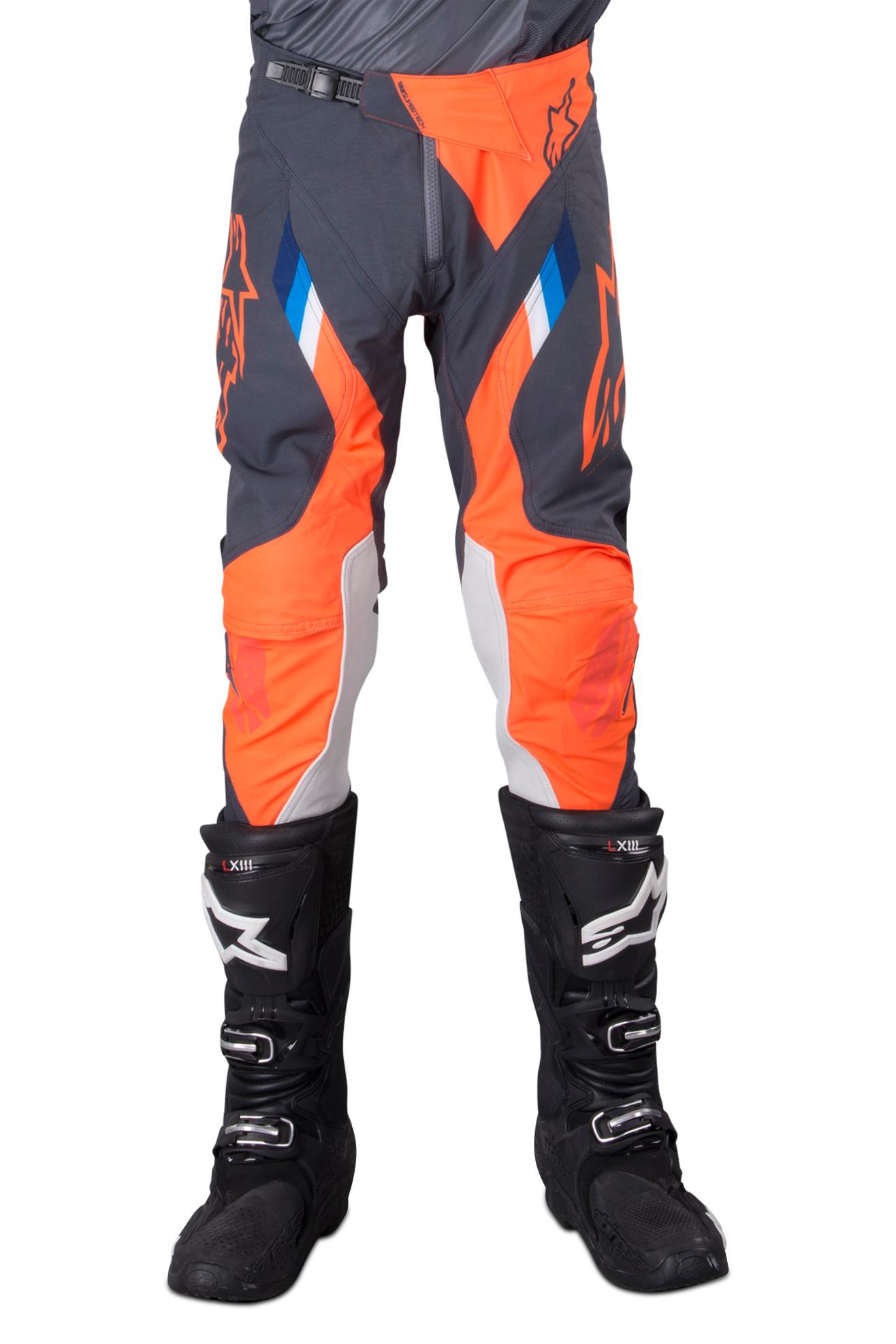 Alpinestars Pantalon Cross Alpinestars Supertech - Anthracite et Orange fluo