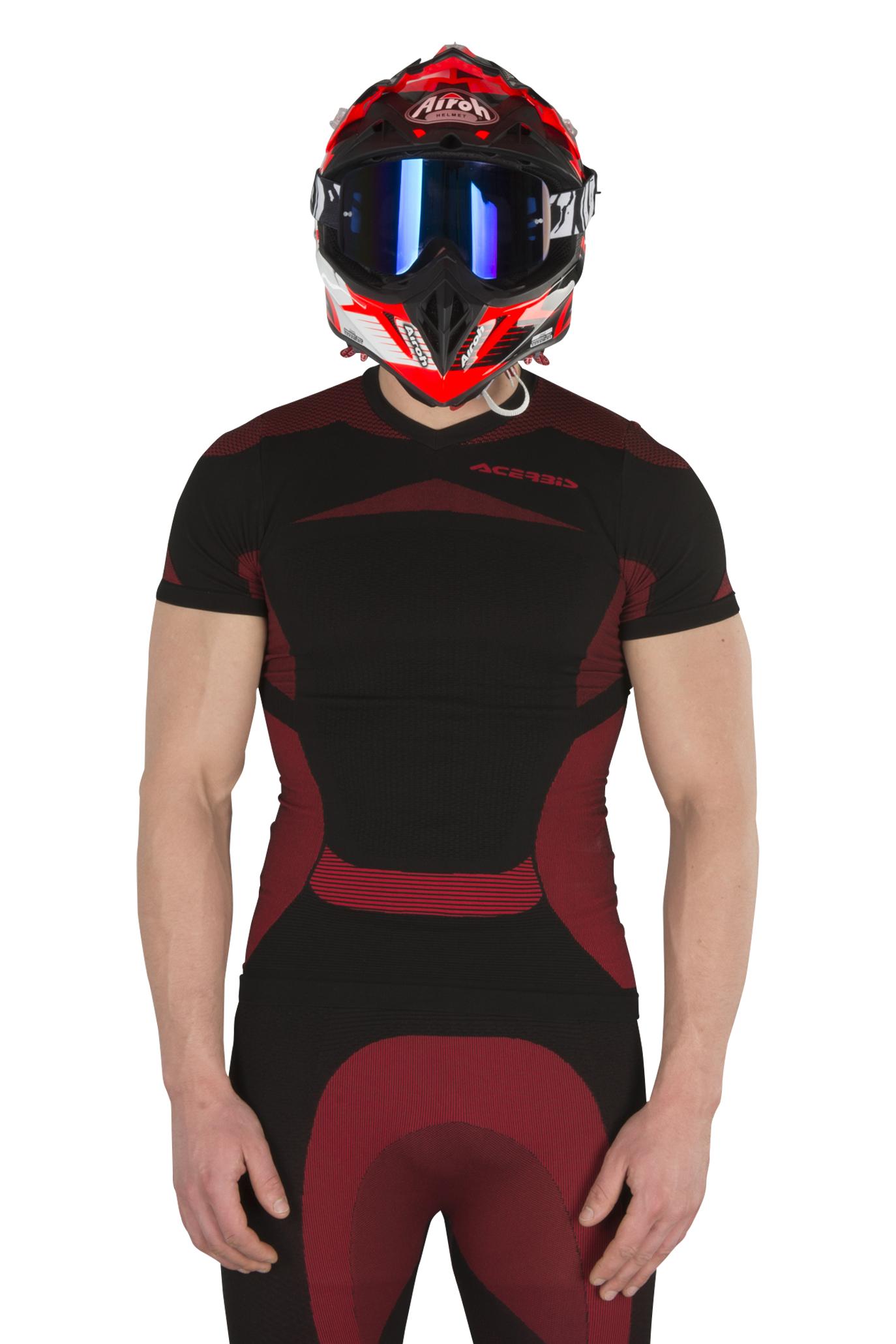 Acerbis Sous-maillot Manches Courtes Acerbis X-Body Summer Noir-Rouge