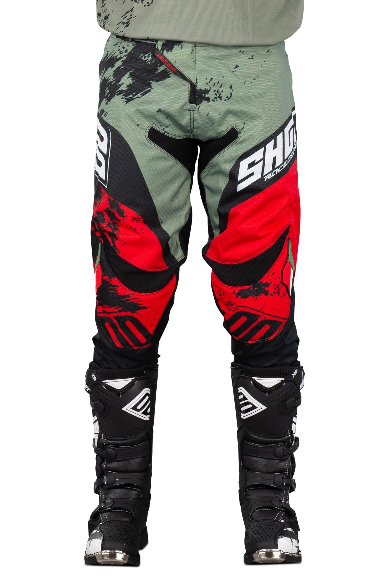 Shot Race Gear Pantalon Cross Shot Contact Shadow Rouge