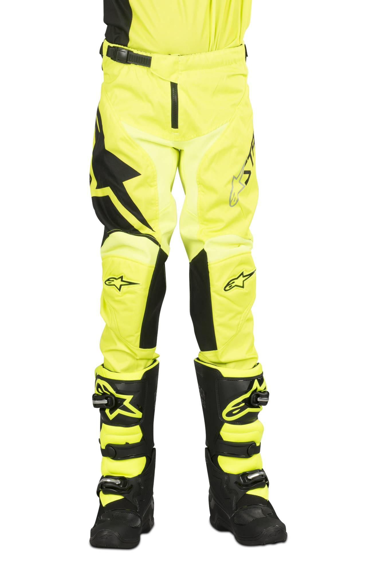 Alpinestars Pantalon Cross Enfant Alpinestars Racer Factory Noir-Jaune Fluo