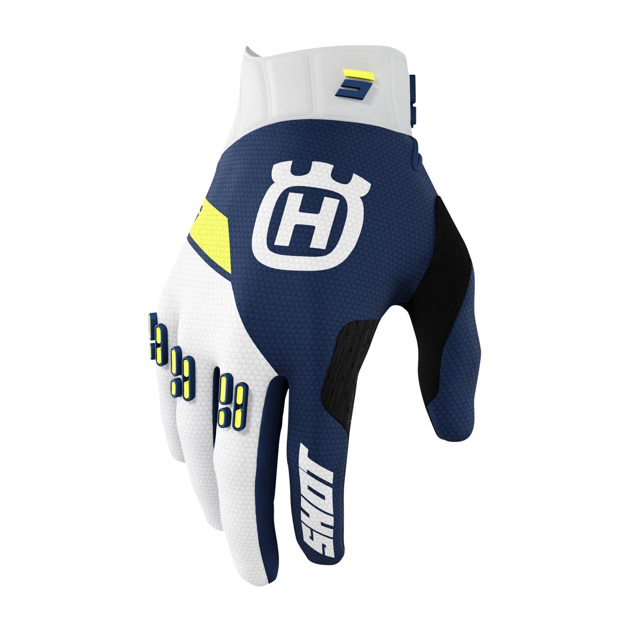Shot Race Gear Gants Cross Shot Husqvarna Limited Edition 2022 Bleus
