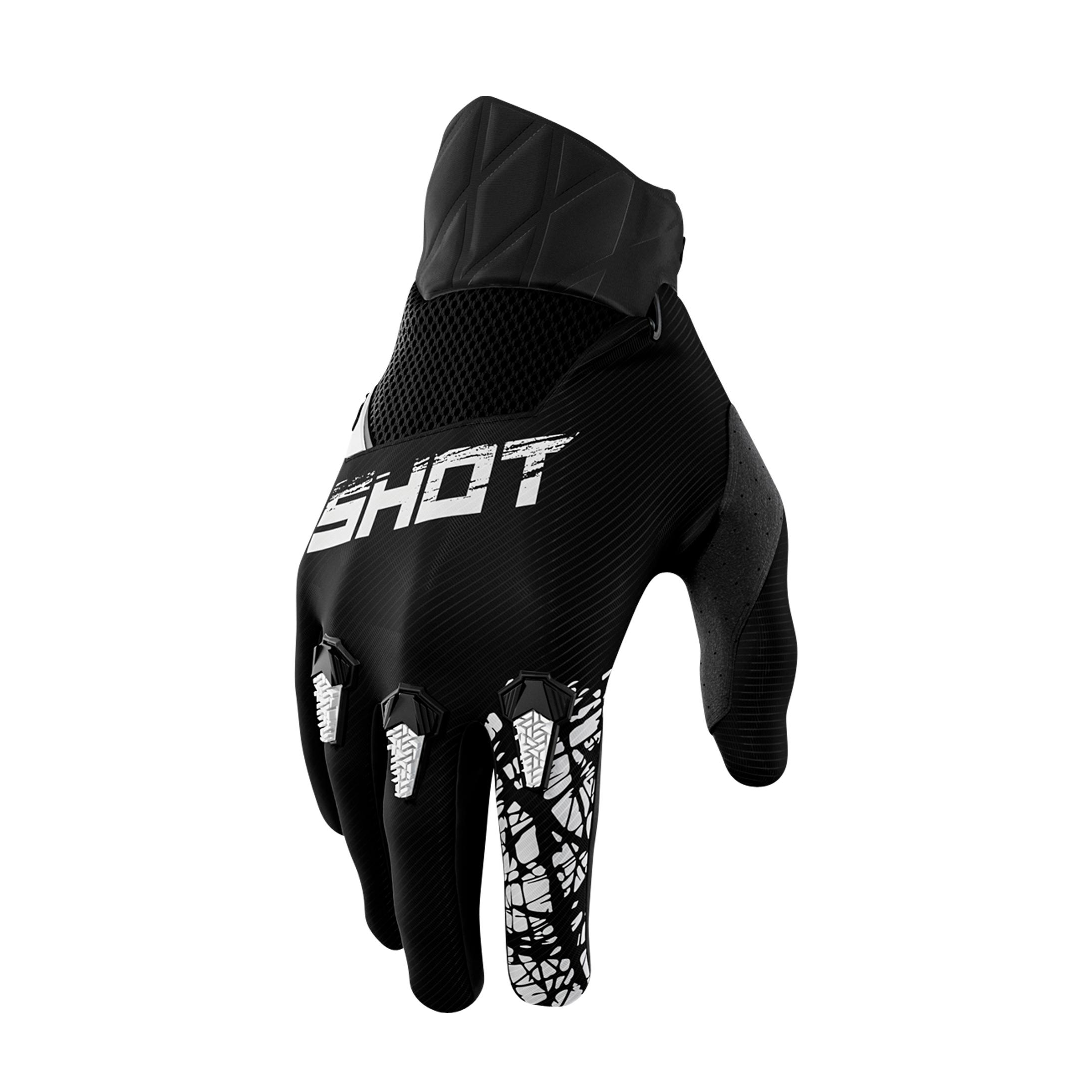 Shot Race Gear Gants Cross Enfant Shot Slam Noirs